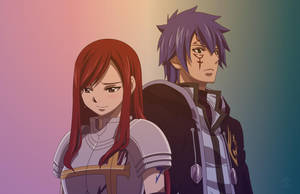 Erza and Jellal by Erzakuse