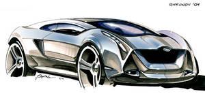 Concept car sketch 2 by Rykunov