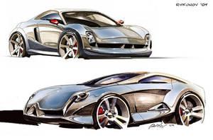 Concept car sketch 7 by Rykunov