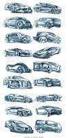 Random car sketches 4 by Rykunov