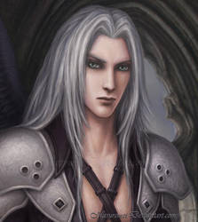 Sephiroth _ FF _ detail by marurenai