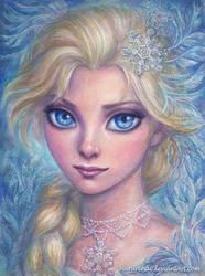 Elsa watercolor by marurenai