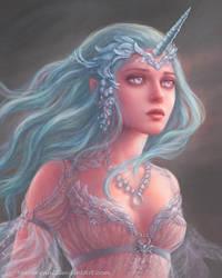 Winter unicorn girl by marurenai