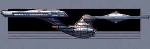 Enterprise 1701  - concept by fastleppard