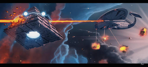 Phase 2 galaxy class dreadnought - the ion cannon by fastleppard