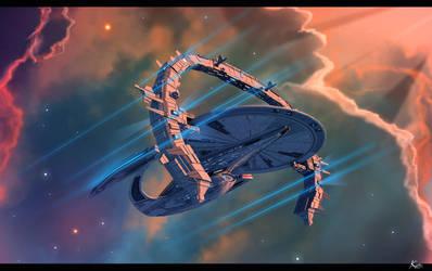 Phase 2 galaxy class dreadnought -Steinmetz reign by fastleppard