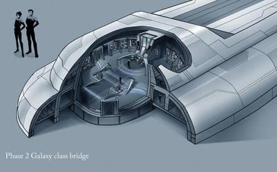 Phase 2 galaxy class bridge interior by fastleppard
