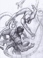 [Sketch] Spider-Man vs Doctor Octopus by AlexZebol