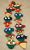 TMNT Pizza Scarf by SweetNerdyCakes
