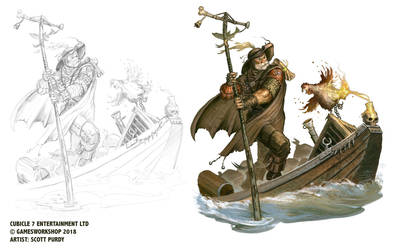 Warhammer Fantasy Roleplay - Boatman by ScottPurdy