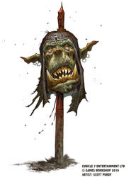 Warhammer Fantasy Roleplay - Orc On A Stick by ScottPurdy