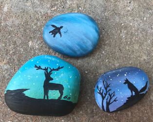 Rock paintings by SpiritWolf3639