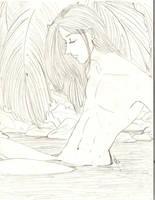 Louis Bathing by roryalice