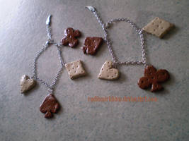 Wonderland cookie bracelets by RadiumIridium