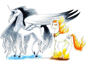 My Evil Pony- Morgoth and Sauron by RadiumIridium
