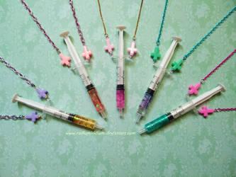 Syringe necklaces by RadiumIridium