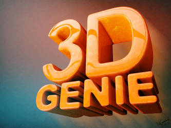 Bubbly rounded 3d text by Genieto