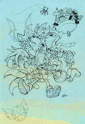 WIP Sonic 25th Anniversary by Auroblaze