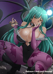 Morrigan Aensland by Hell-and-Heavens