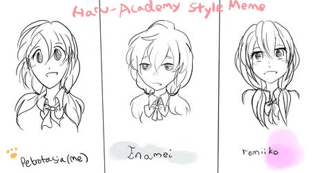 [HaruAcademy] Style Meme challenge by Petrotasia