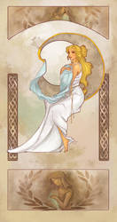 Lauren's Alphonse Mucha by CleverBlue