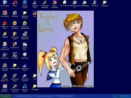 Xavier and Leena Desktop by Gyrick