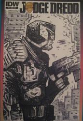Dredd-cover by RudeJackArt