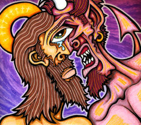 good vs. evil by jakehawn