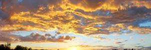 Sunset Sept 28th Panorama by Phenix59
