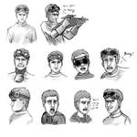 Dr Horrible/ Billy Buddy Doodles by Skeleion