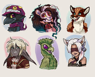 Head Shot sketches 5 by Skeleion