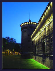 Castello Sforzesco at Dusk by almostAMAZING