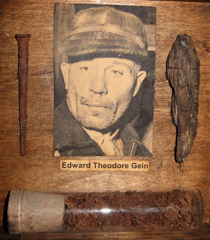 Edward Theodore Gein ed gein relics 3dethcheez on deviantart