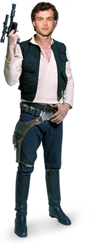 Alden Ehrenreich Han Solo - Transparent  by SavageComics