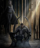 Black Panther And Storm by SavageComics
