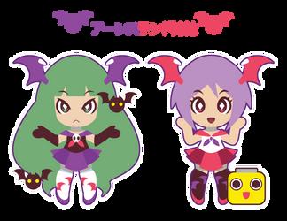 Seifuku Aensland Sisters ::COMM:: by Itachi-Roxas
