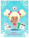 Xmas-Chan Christmas Card ::GIFT:: by Itachi-Roxas