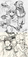 HxH sketches by nuriko-kun