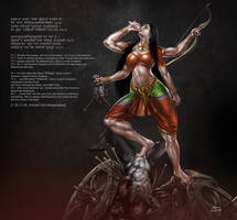Maa Durga by bodyscissorfan