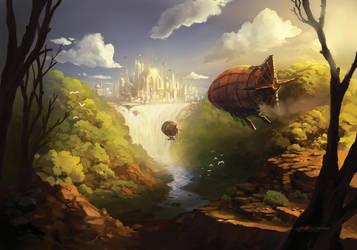 Arrival in Sochen Falls by FelipeCagno