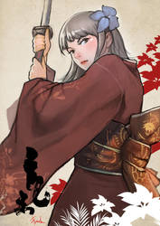 Spirit - Samurai Girl by ChekydotStudio