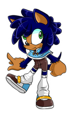 Monkey Khan X Sonic Fan Child .:Female:. by VeggieMadness