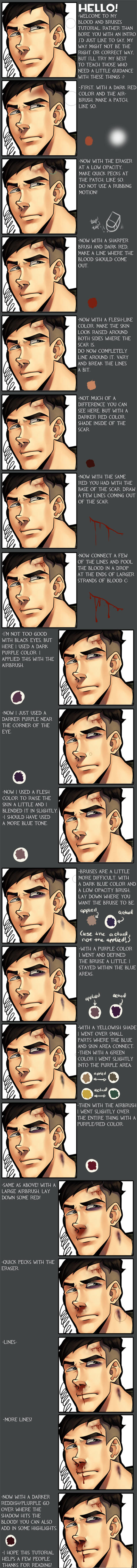 Blood and Bruises Tutorial by dust-bite