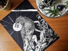 No Angels - ORIGINAL FOR SALE by tatiilange