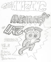 The Amazing Adventures Of Waz Title Page by DedennesDungeon