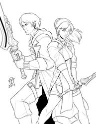 Battle Couple by Ether101