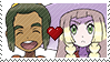 PKMN Sun and moon - SnowlilyShipping stamp by Aquamimi123
