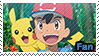PKMN Sun and moon - Ash and Pikachu fan Stamp by Aquamimi123