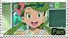PKMN Sun and moon - Mallow Fan Stamp by Aquamimi123