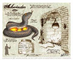 HP Beastiary - Ashwinder by sandelwood